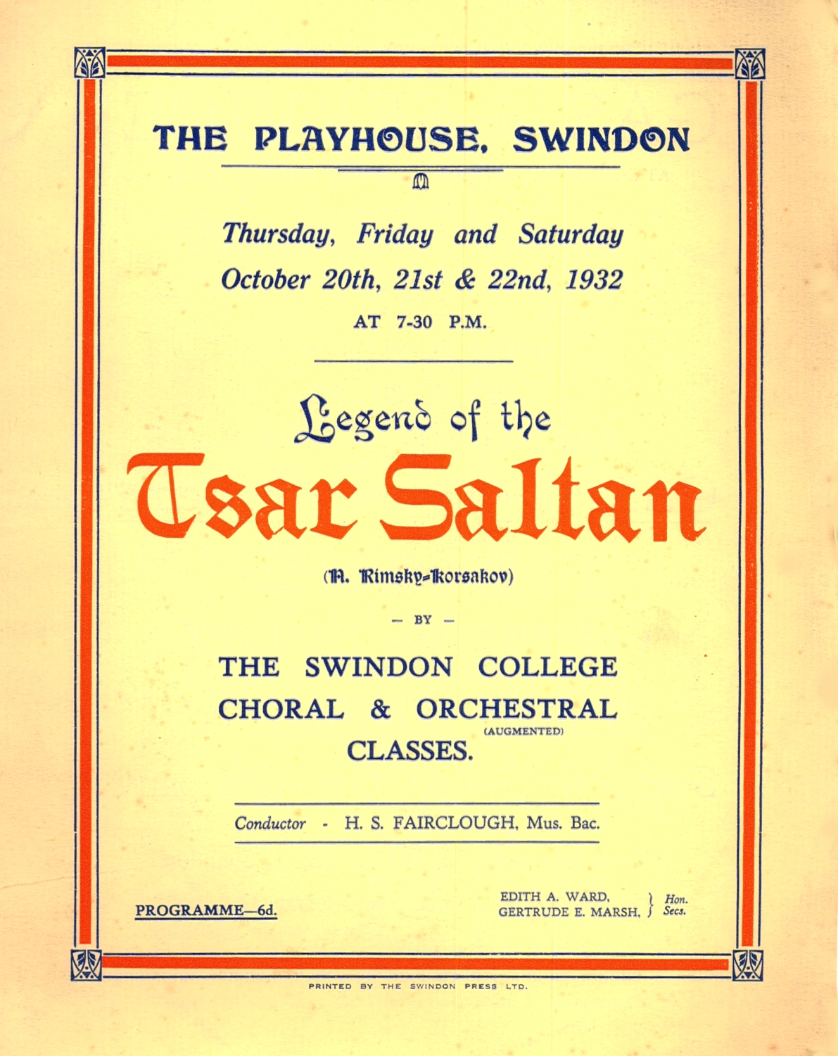 10 - Exteension - 1932 Playhouse prog cover