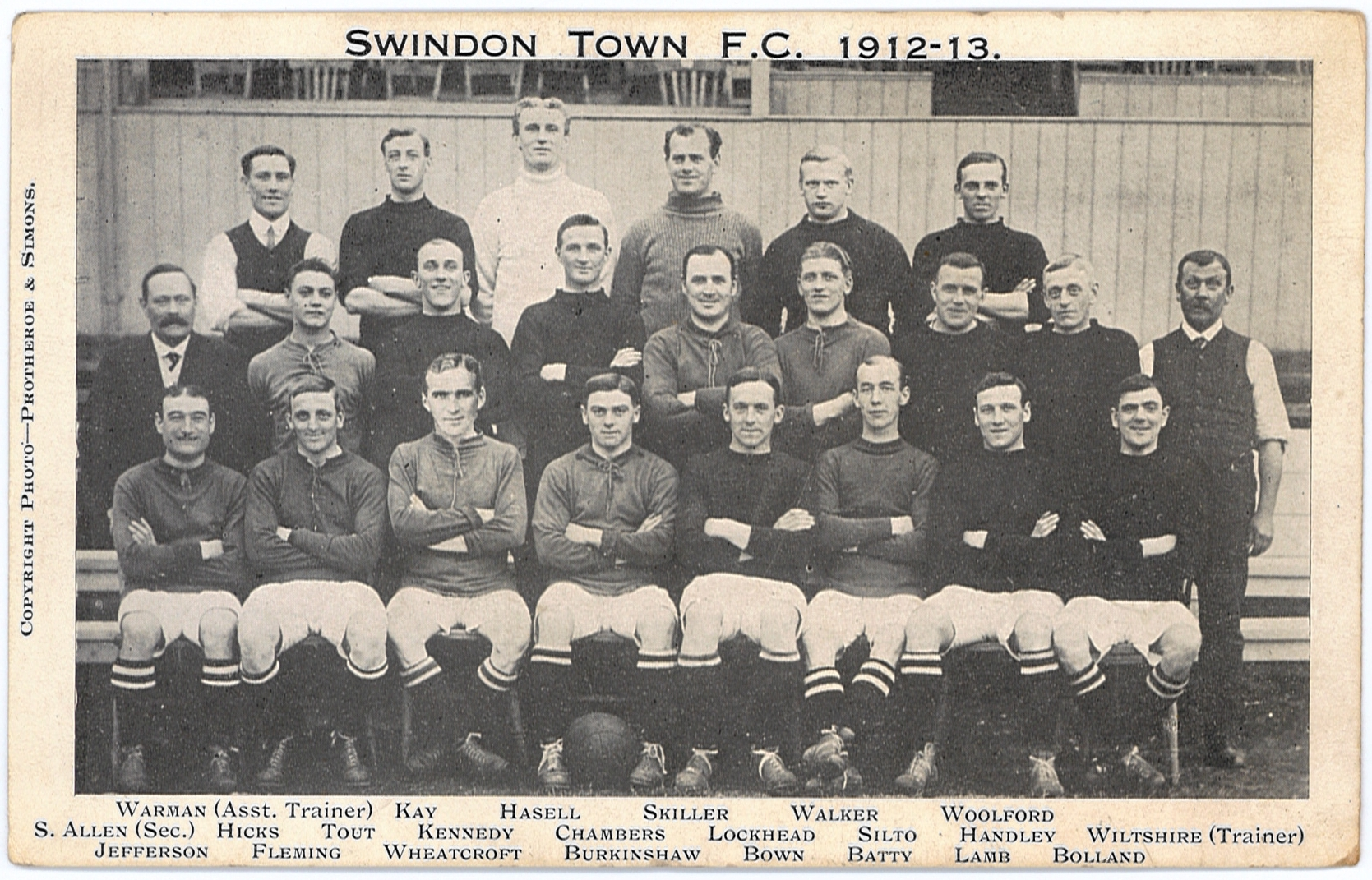 11 - County Ground - 1912 STFC with Harold Fleming