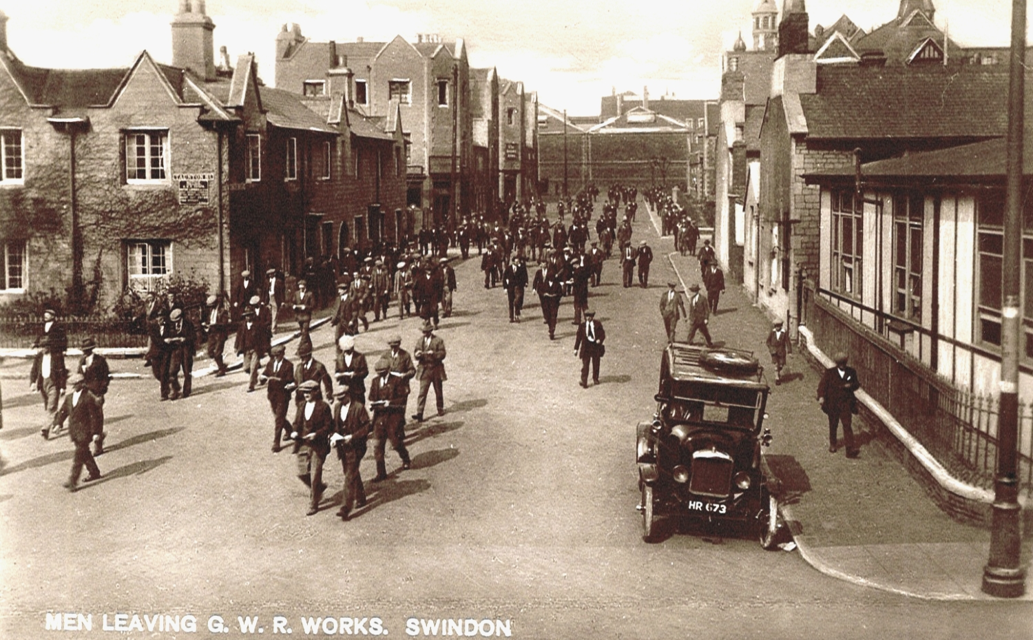 Men Leaving Works Emlyn Square - Provided by Swindon Local Studies https://www.flickr.com/photos/swindonlocal