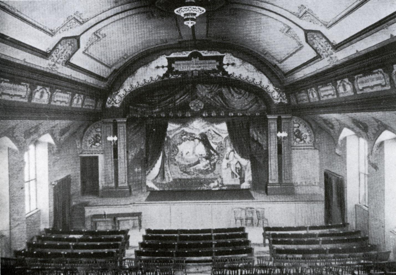 The early Mechanics Theatre