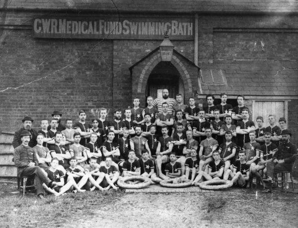 – Swimmers from the GWR Medical Fund Society swimming baths (situated within the Works), c1880s